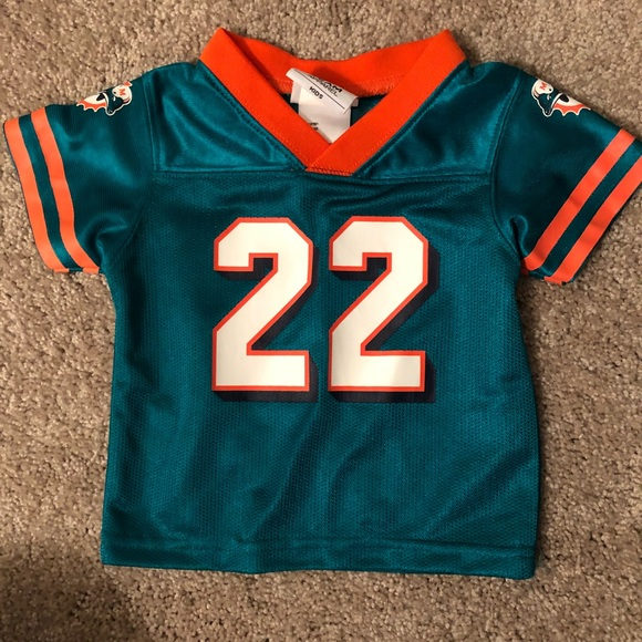 new concept 6251b 36f60 Baby Miami Dolphins Football NFL Jersey- Bush #22